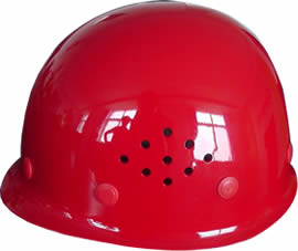 A red PC safety helmet PCSH-1