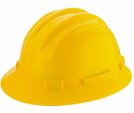 A yellow PC safety helmet PCSH-2