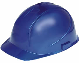 A blue PC safety helmet PCSH-4